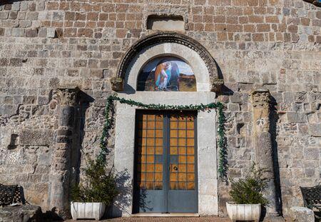 Teano, Campania, Italy. Church of San Paride ad Fontem. View of the main facade Imagens