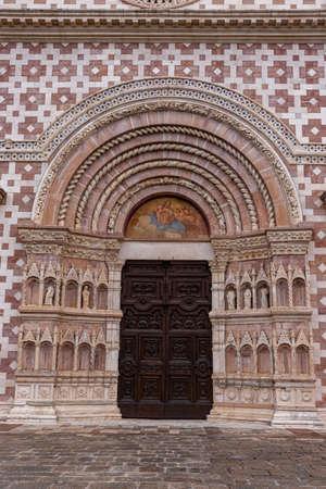 L'Aquila, Abruzzo, Basilica of Santa Maria di Collemaggio, a religious symbol of the city, dating back to 1288