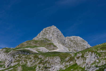 Molise, Mainarde. The Mainarde mountain range extends along the border between Molise and Lazio, with prevalence in the Molise territory. It is a very rocky natural barrier with a rugged aspect. Фото со стока