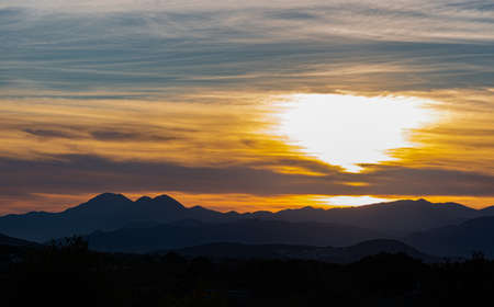Spectacular photographs of sunsets in Molise