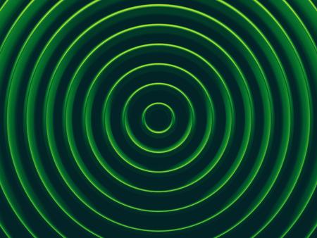Green rings image for web design, wallpaper, modern design, commercial banner and mobile application. 3D illustration.