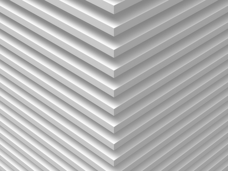 High resolution white abstract background for graphic design, book cover template, website design, application design. 3D illustration.