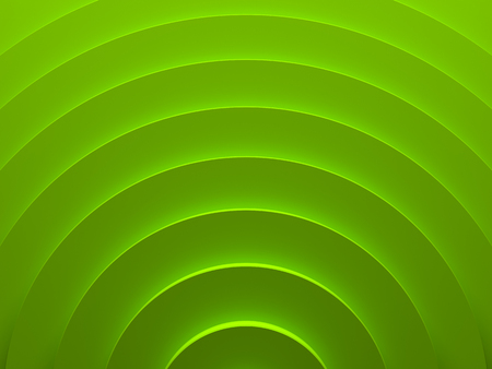 Green geometric vortex. Abstract pattern for web template background, brochure cover or app. Material style. Geometric 3D illustration.