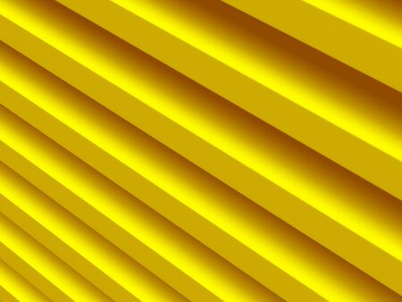 Stripes. Yellow abstract pattern for web template background, brochure cover or app. Material style. Geometric 3D illustration.