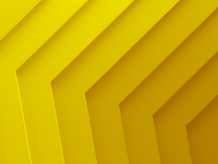 Yellow gold angles abstract background. This pattern works for text backgrounds, web design, print or mobile application. 3D illustration. Stock Photo