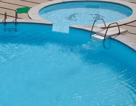Cold swimming pool with clear water Stock Photo - 10761755