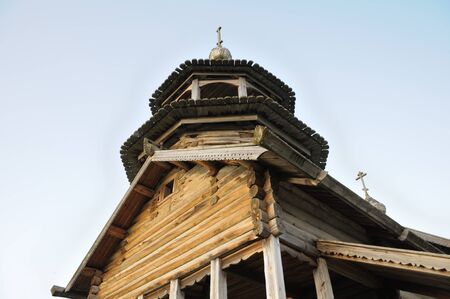 This is the picture of the old rural Russian christian church on a hill