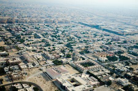 Aerial view of apartment houses in Dubai city (United Arab Emirates) photo