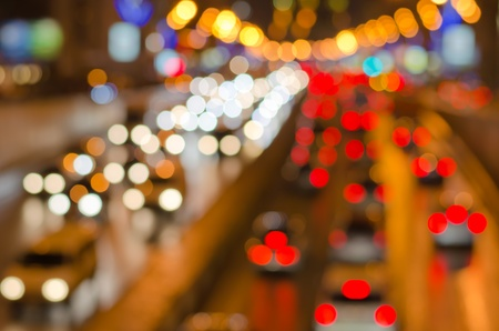 Abstract blurred colorful circles (defocused night freeway scene), suitable as a background