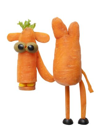 funny kid: Camel made of carrot Stock Photo
