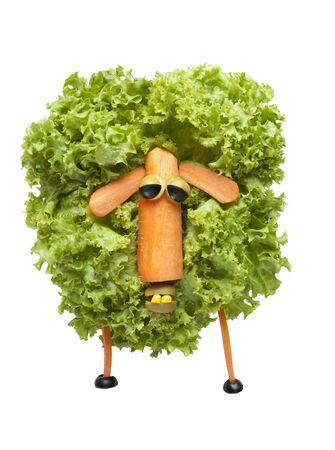 oveja: Ovejas divertidas de verduras