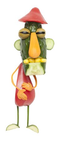man made: Man made of vegetables