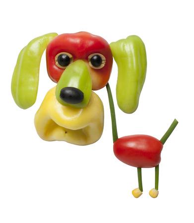 onion: Perro divertido hecha de pimienta Foto de archivo