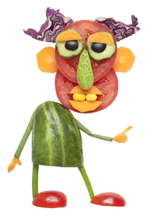 funny guy: Funny guy made of vegetables