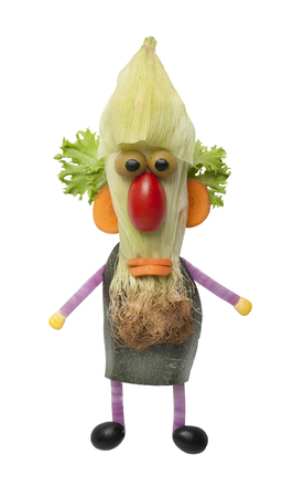 Funny vegetable man with beard