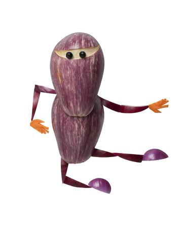 ninja: Funny ninja made of eggplant