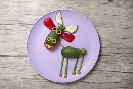 A simple recipe for making a deer from vegetables