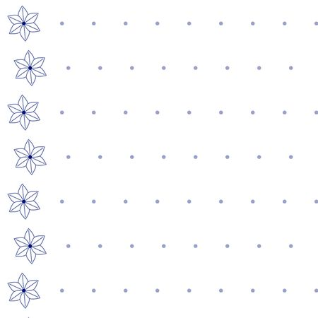 florets: Seamless Pattern - equal ranks florets and small circles Illustration