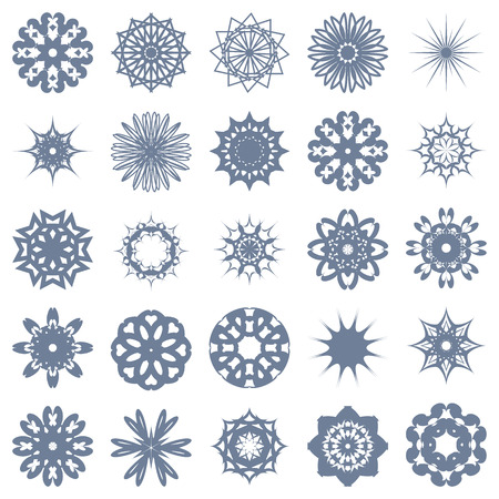 symmetric: set of symmetric one-color patterns. Vector illustration. Illustration