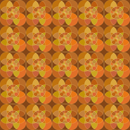 alternating: seamless pattern - a mosaic from the alternating circles. vector illustration