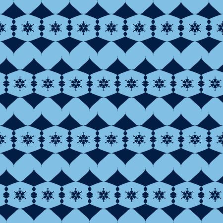 figuras abstractas: Patrón sin fisuras de las figuras abstractas azules alternantes. ilustración vectorial