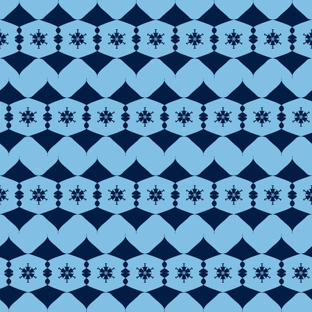alternating: seamless pattern from the blue alternating abstract figures. vector illustration