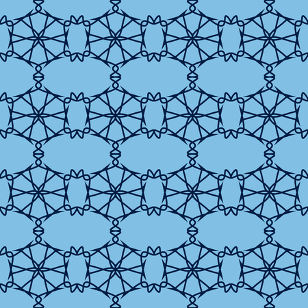 grid pattern: seamless pattern - a grid from abstract hexagons. vector illustration Illustration