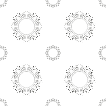 interior cell: seamless pattern of abstract symmetric circles. Vector illustration. Illustration