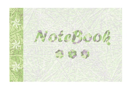 notebook cover: vector abstract design cover notebook with inscription