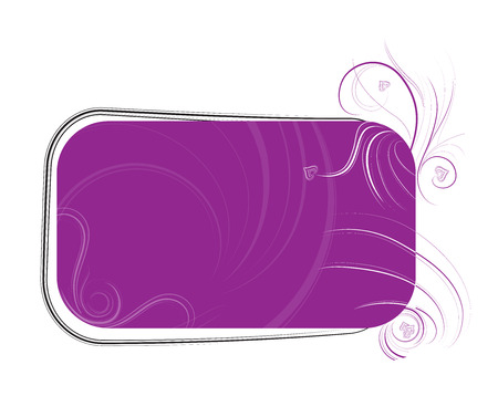 curlicues: abstract vector photo frame