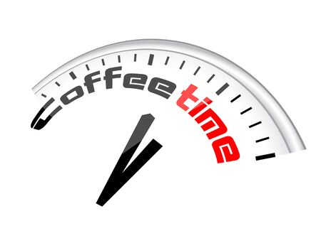 labeled: vector clock with arrows labeled coffee time