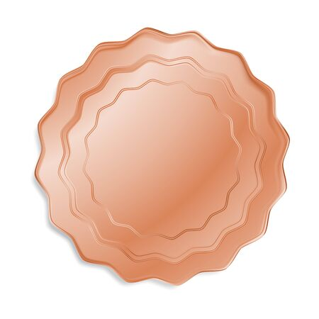 bronze medal: vector bronze medal that can be used as a seal, the price tag, label or badge