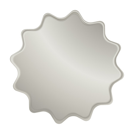 platinum: empty vector platinum label that can be used as a seal, the price tag or badge Illustration