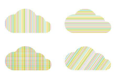 lineas verticales: vector clouds with multicolored horizontal and vertical lines