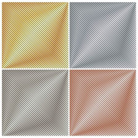 platinum: vector background with a metallic gold, platinum, silver and bronze strips