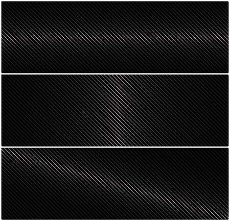 speaker grille pattern: 3 abstract vector horizontal banner with metal grid on a black background