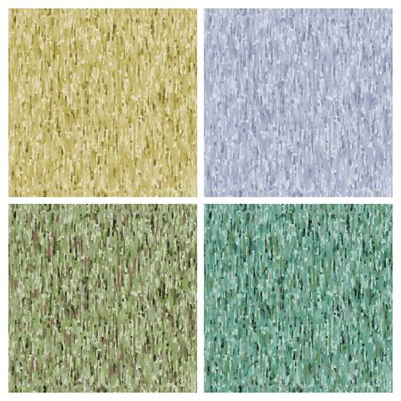 spruce: 4 vector seamless background khaki sand, green, spruce and blue tint Illustration