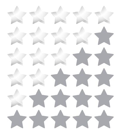 star rating: Vector star rating with silver stars Illustration