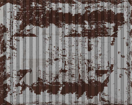 corrugated iron: vector old rusty corrugated iron