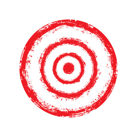 Vektor rotes Ziel mit Farbe gemalt Vektorgrafik