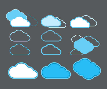 indicate: icons in the form of clouds to indicate the cloud data storage on the Internet