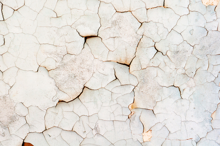 horizontal background of old dirty faded cracked white Archivio Fotografico