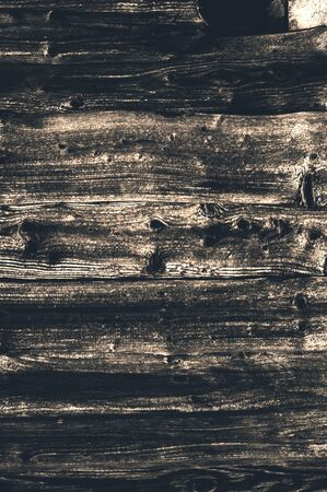 Old faded brown knotted horizontal wooden boards from time to time close-up Stock fotó