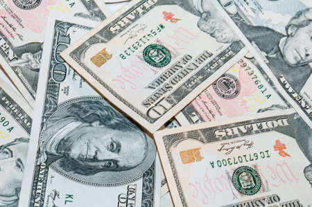 Wealth from cash, dollars for economy and business, reliable financial investments currency, background from paper money Archivio Fotografico