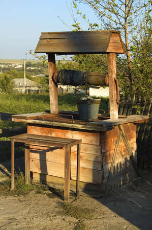 ligneous: This is an old draw-well for drinking water in Republic Moldova.