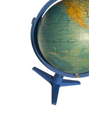 terrestrial globe: Terrestrial globe on white background