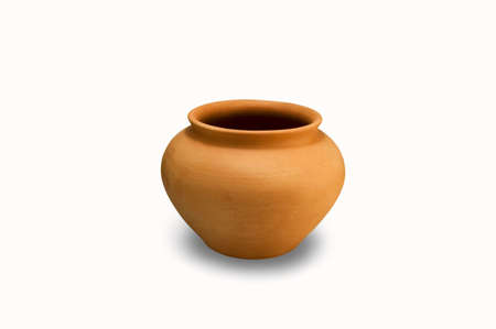 fireclay: The pot on white background.