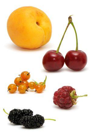 set fruits on a white Stock Photo - 6477186