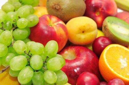 Obst und Gemüse isolated on a white  Standard-Bild