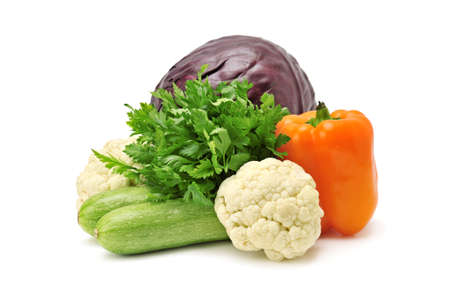 vegetables isolated on a white                                     photo